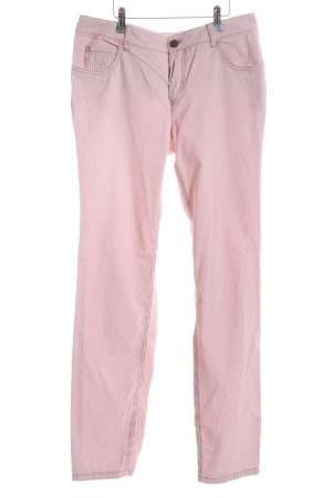 Oui Skinny Jeans pink Streifenmuster Casual-Look