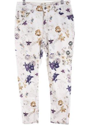 Oui Jeans slim fit motivo floreale stile casual