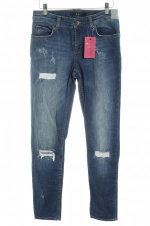 Oui Jeans slim fit blu acciaio stile casual
