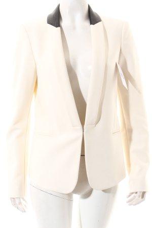 Oui Blazer de esmoquin blanco puro-negro estilo «business»
