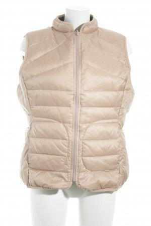 Oui Quilted Gilet dusky pink star pattern casual look