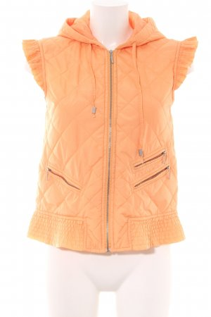 Oui Quilted Gilet light orange quilting pattern casual look
