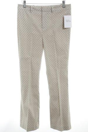 Oui Pantalone jersey beige-crema motivo astratto stile professionale
