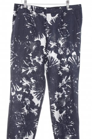 Oui Stoffhose dunkelblau abstraktes Muster Casual-Look
