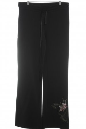 Oui Stoffhose schwarz Casual-Look