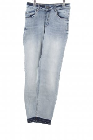 Oui Straight-Leg Jeans blau Casual-Look