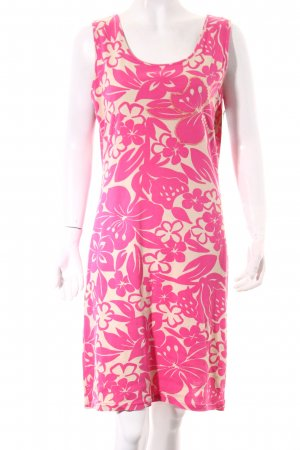 Oui Stretch jurk room-roze bloemen patroon Beach-look