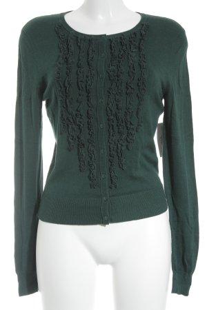 Oui Cardigan in maglia verde scuro stile casual