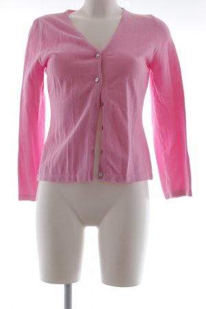 Oui Strick Cardigan rosa Casual-Look