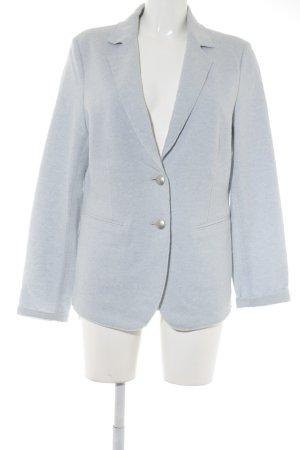 Oui Gebreide blazer azuur-lichtblauw gestippeld elegant