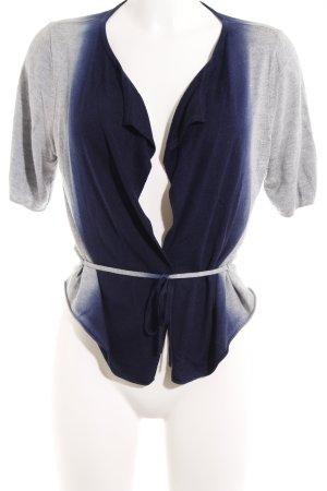 Oui Bolero lavorato a maglia blu scuro-grigio chiaro Colore sfumato