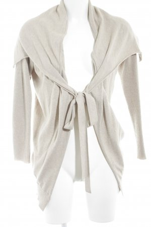 Oui Strickjacke creme Casual-Look