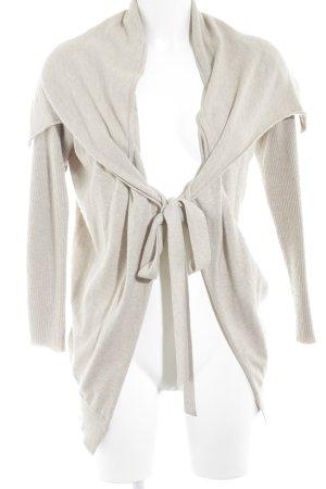 Oui Giacca in maglia crema stile casual