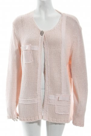 Oui Strickjacke hellrosa Casual-Look