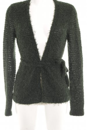 Oui Strickjacke petrol Casual-Look