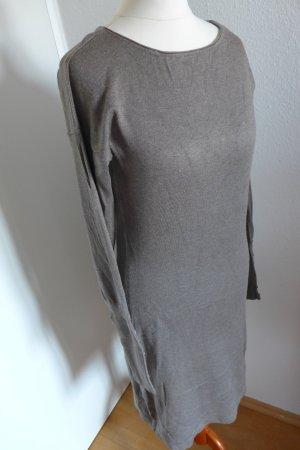 Oui Strickkleid Langarm beige grau Gr.34
