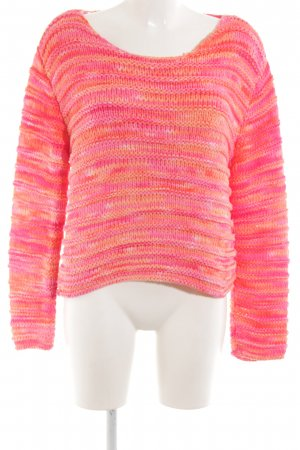 Oui Strickpullover pink Casual-Look