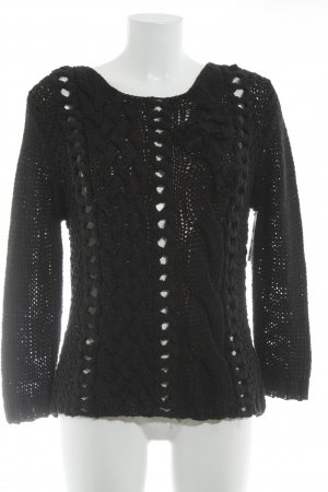 Oui Knitted Sweater black casual look