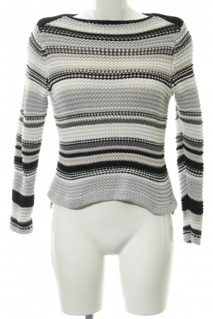 Oui Strickpullover Streifenmuster Casual-Look