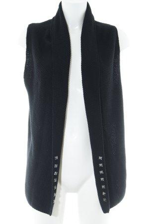 Oui Gilet tricoté noir style décontracté