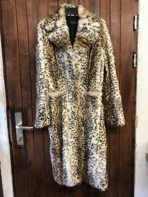 Oui Set Pelt Coat multicolored