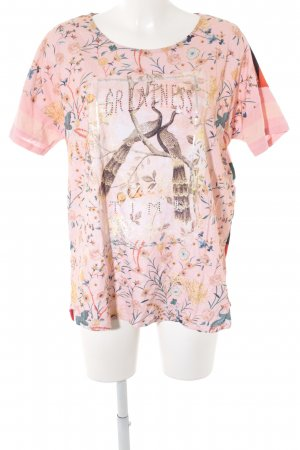 Oui T-Shirt florales Muster Casual-Look