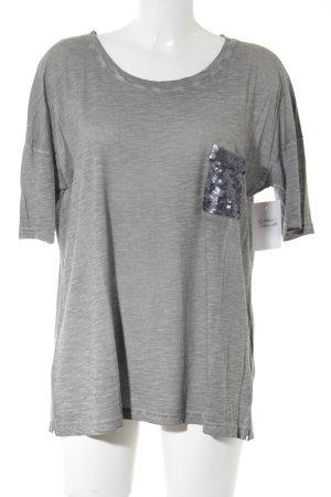 Oui T-Shirt grau meliert Casual-Look