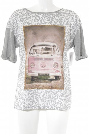 Oui T-Shirt Leomuster Casual-Look
