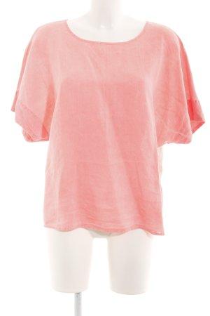 Oui T-shirt fucsia neon-arancio neon puntinato stile casual