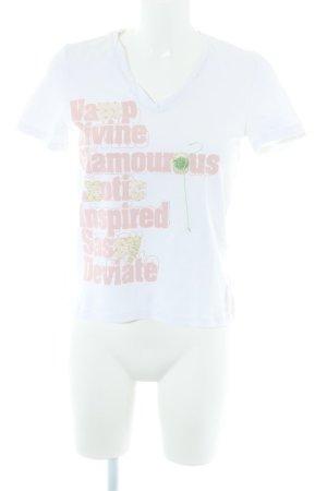 Oui T-Shirt Schriftzug gedruckt Casual-Look