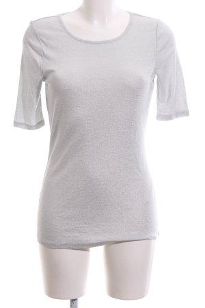 Oui T-Shirt silberfarben Casual-Look