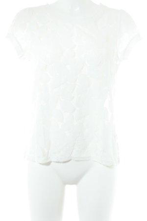 Oui T-Shirt weiß schlichter Stil