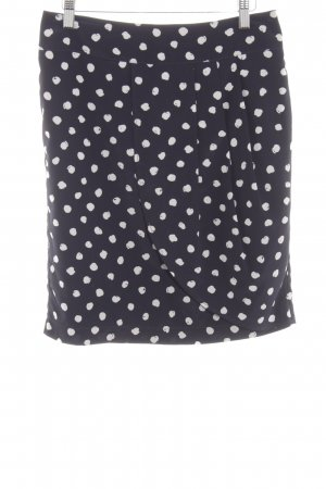 Oui Tulip Skirt black-white allover print elegant