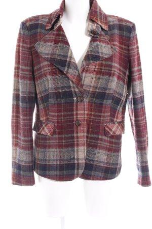 Oui Blazer in lana motivo a quadri stile casual