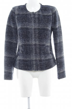 Oui Wool Jacket dark blue-grey check pattern casual look