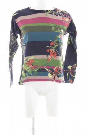 Oui Wollpullover Blumenmuster Casual-Look
