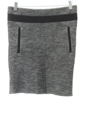 Oui Gonna di lana grigio puntinato stile professionale