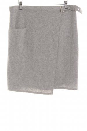 Oui Gonna di lana grigio chiaro stile professionale