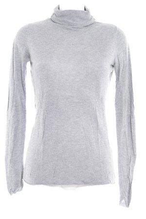 OuiSet Turtleneck Shirt grey flecked casual look