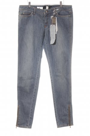 OuiSet Jeans slim bleu acier moucheté style décontracté