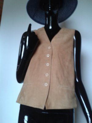 Leather Vest brown suede