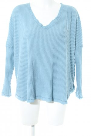 Out from Under Longsleeve blau Casual-Look