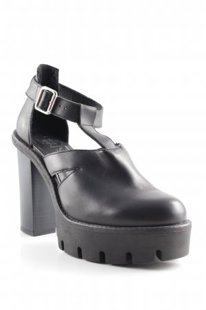 Out from Under Plateau-Pumps schwarz Urban-Look