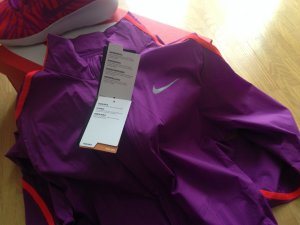 Nike Outdoor Jacket orange-lilac synthetic fibre