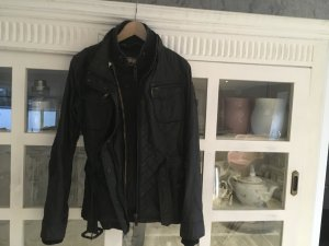 Khujo Biker Jacket black mixture fibre