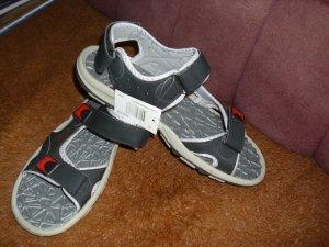 Sandalo outdoor blu scuro Finta pelle