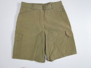 Short taille haute vert olive coton