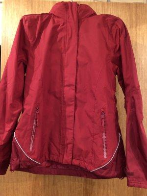 Chaqueta con capucha rojo oscuro