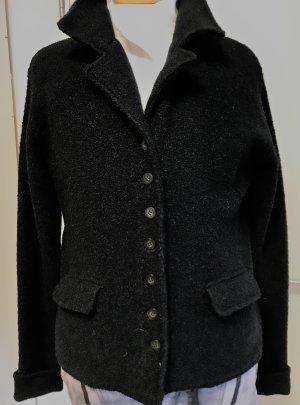 Outdoor Wollblazer , Übergangsjacke ,schwarz, ungefüttert
