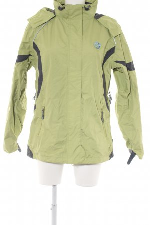 Outdoor Jacket pale green-dark grey athletic style